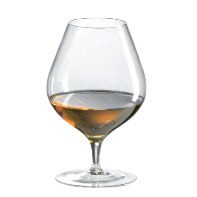 Ravenscroft traditional cognac balloon. Brandy glass png image library