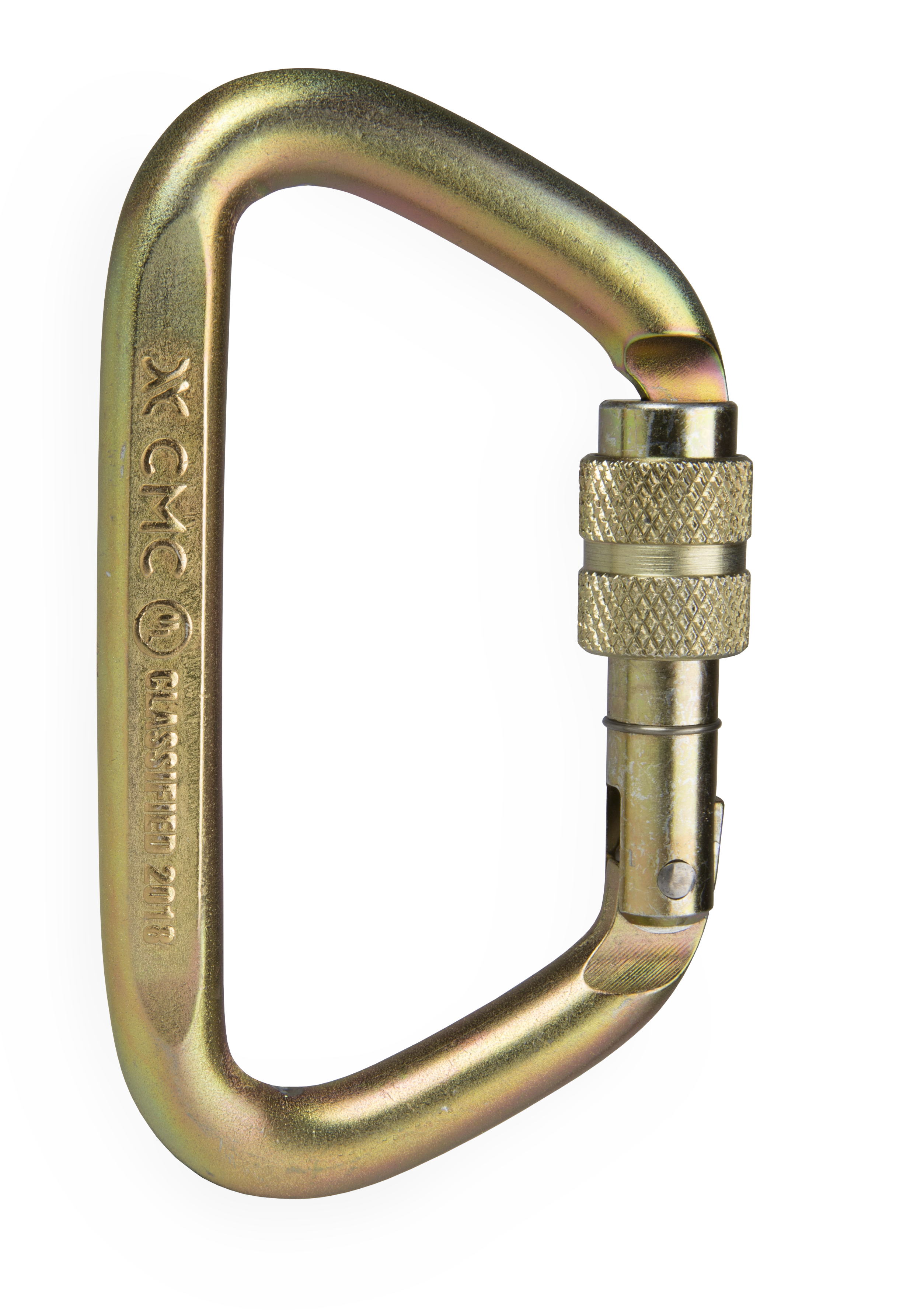 Brass clip carabiner. Carabiners search and rescue