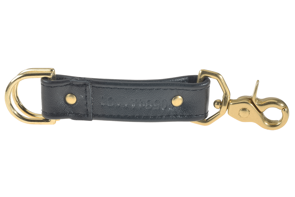 Brass clip double ended. Key strap inch wide