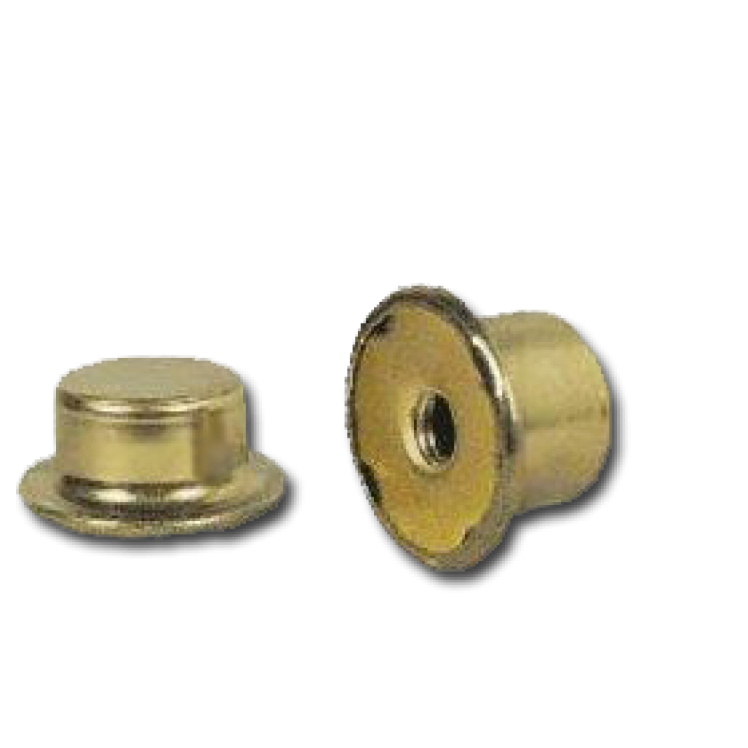 Brass clip fastener. Flame adapter with finial