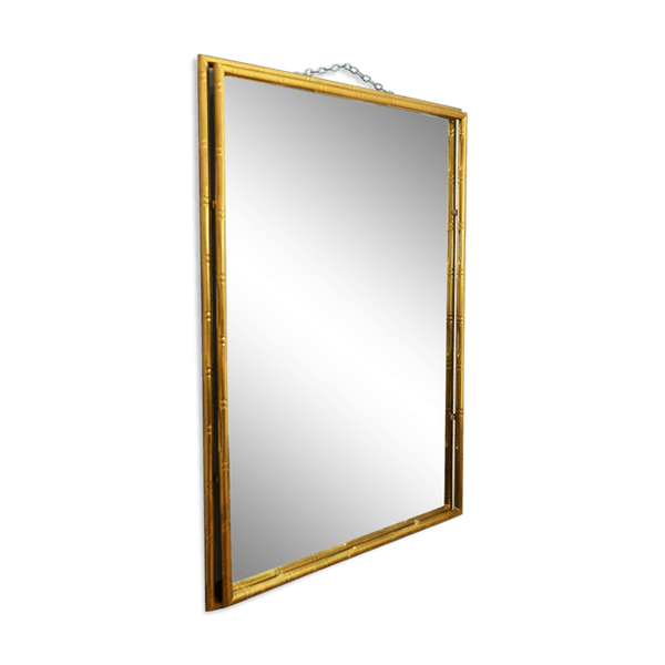 Brass clip mirror. And fake bamboo italy