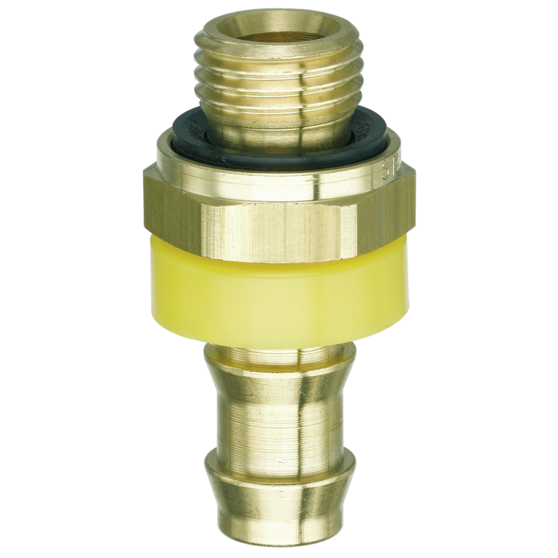 Brass clip pipe. Hose tails push on