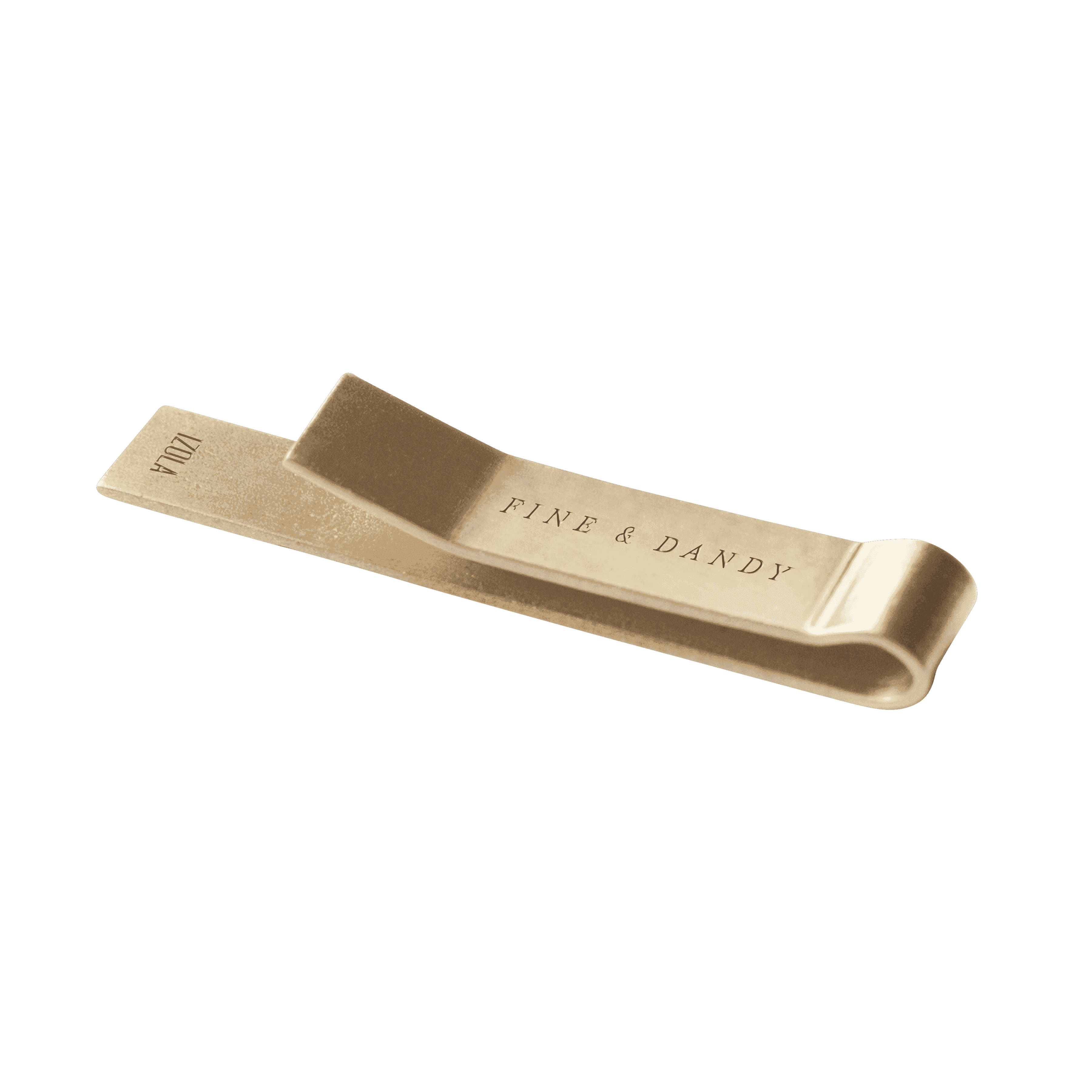 Brass clip tie. Where to place a