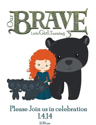 Brave clipart brave movie. Disney party for a