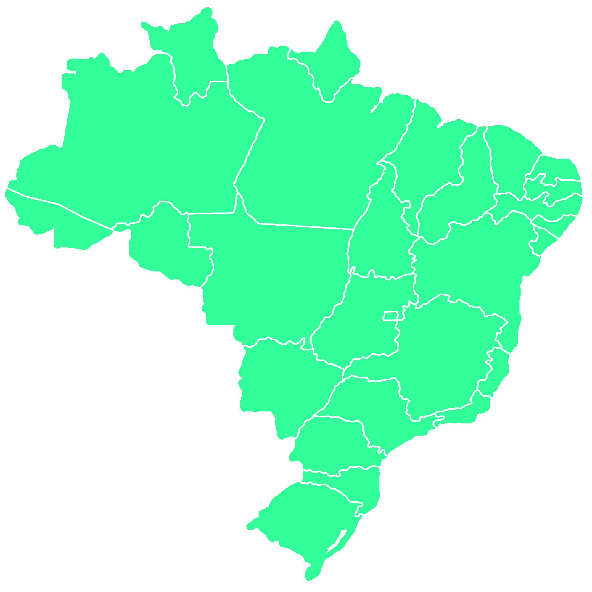 Brazil country png. File map of states