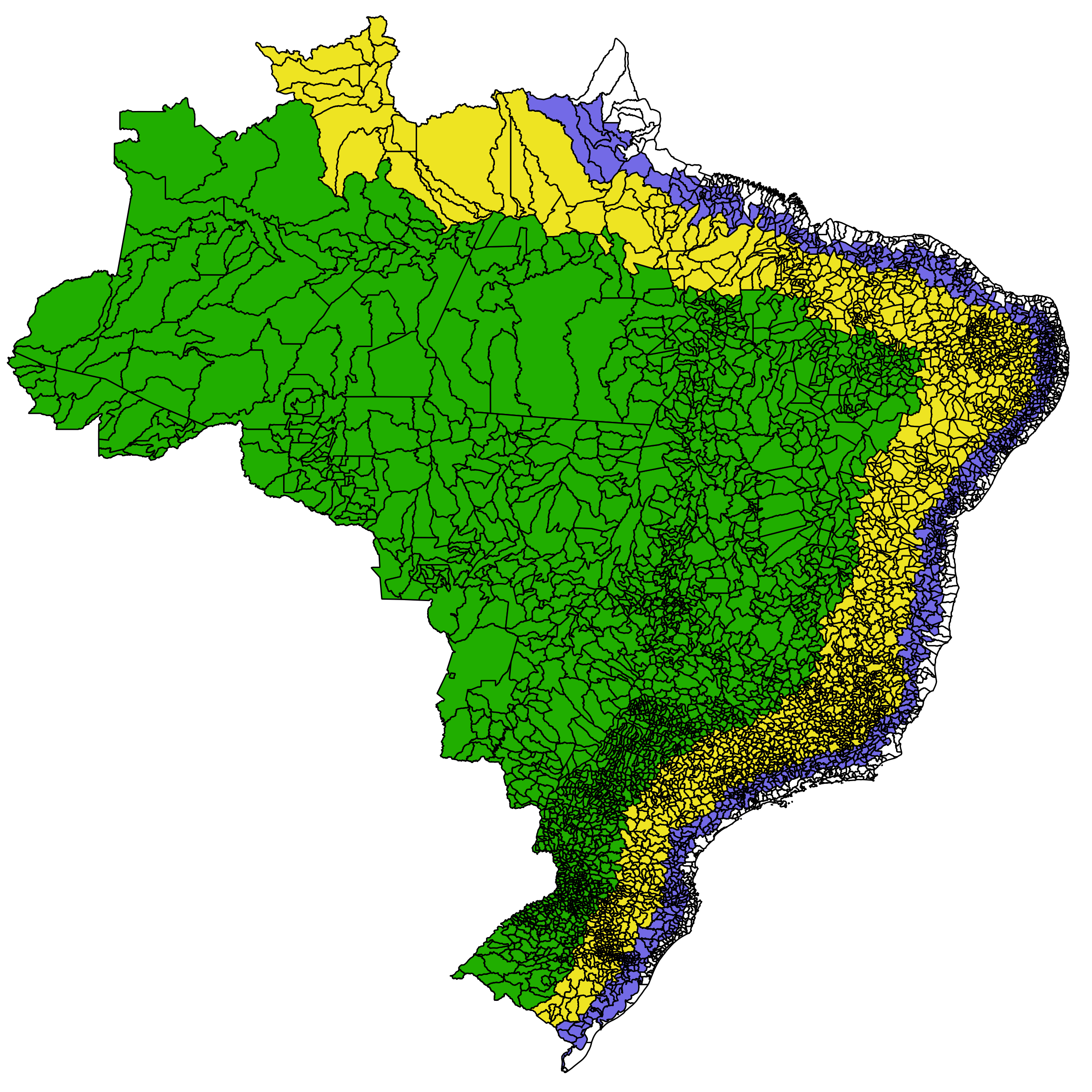 Brazil drawing cool. Distribution of population in