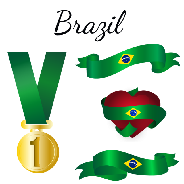 Brazil vector abstract. Flag country png and