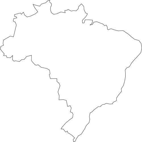 Brazil vector geography. Map south america states
