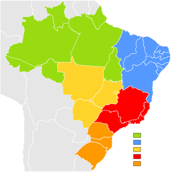 Brazil vector plain. States of wikipedia