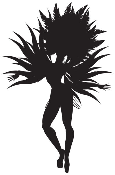 Samba dancer silhouette png. Dance clipart shadow banner freeuse library