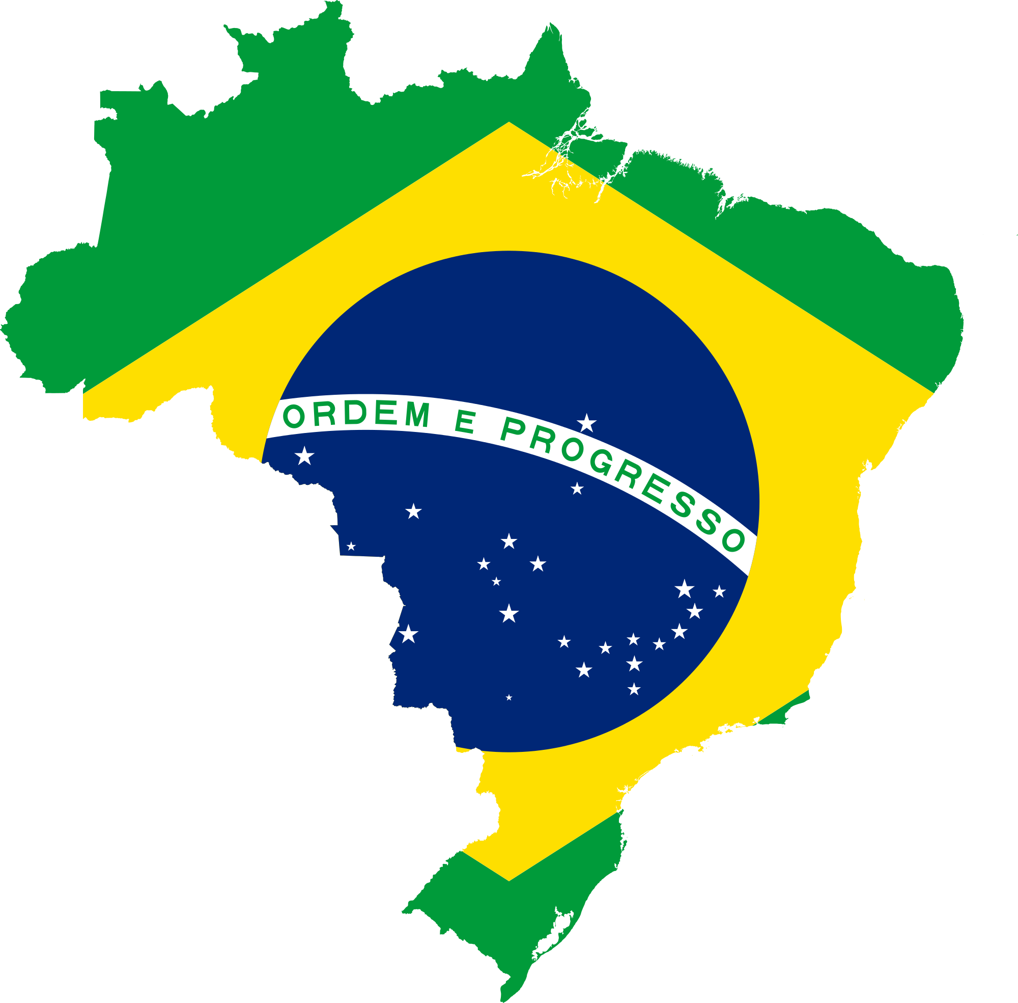 Brazil vector template. File map of with