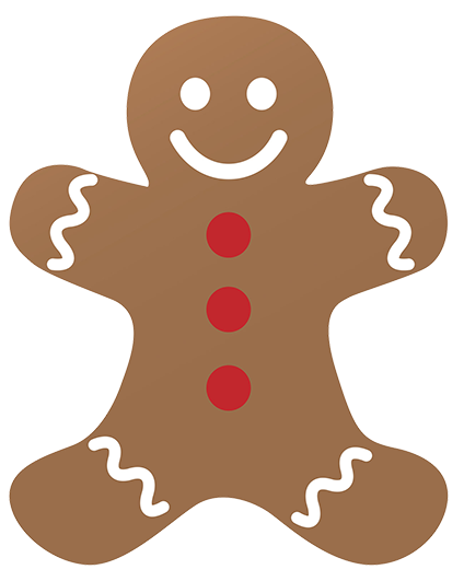 Gingerbread svg classic. Free christmas clip art