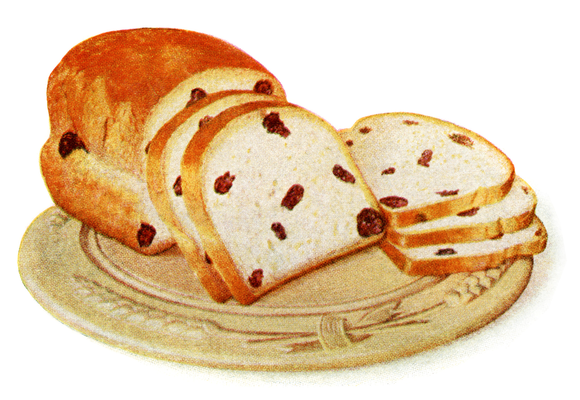 Bread clipart raisin bread. Homemade loaf of old