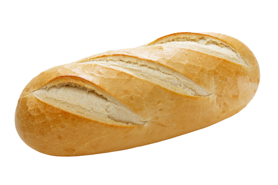 Bread loaf png. Small bakery baguette headache