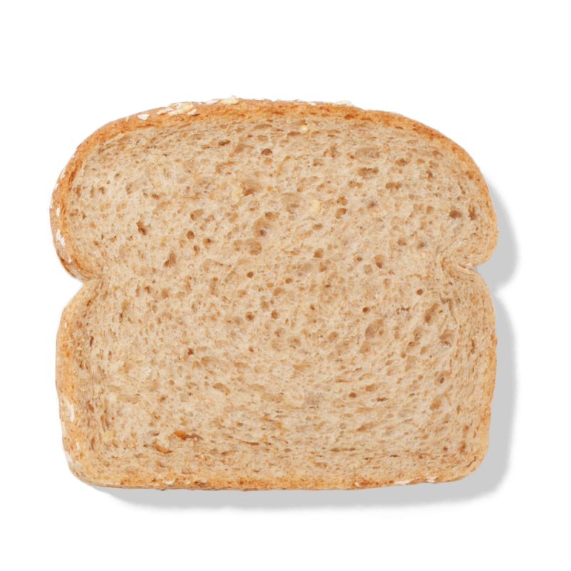 Transparent toast sliced. The campagnolo bread range