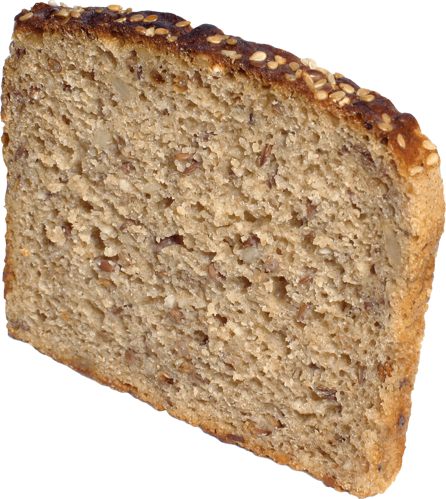 Transparent toast brown. Slice of bread png
