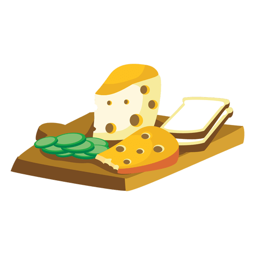 Cheese vector png. Bread cartoon transparent svg