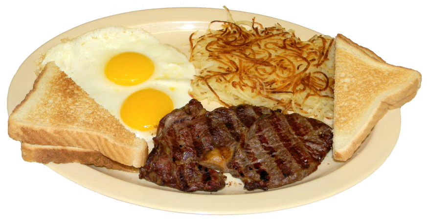 steak and eggs png