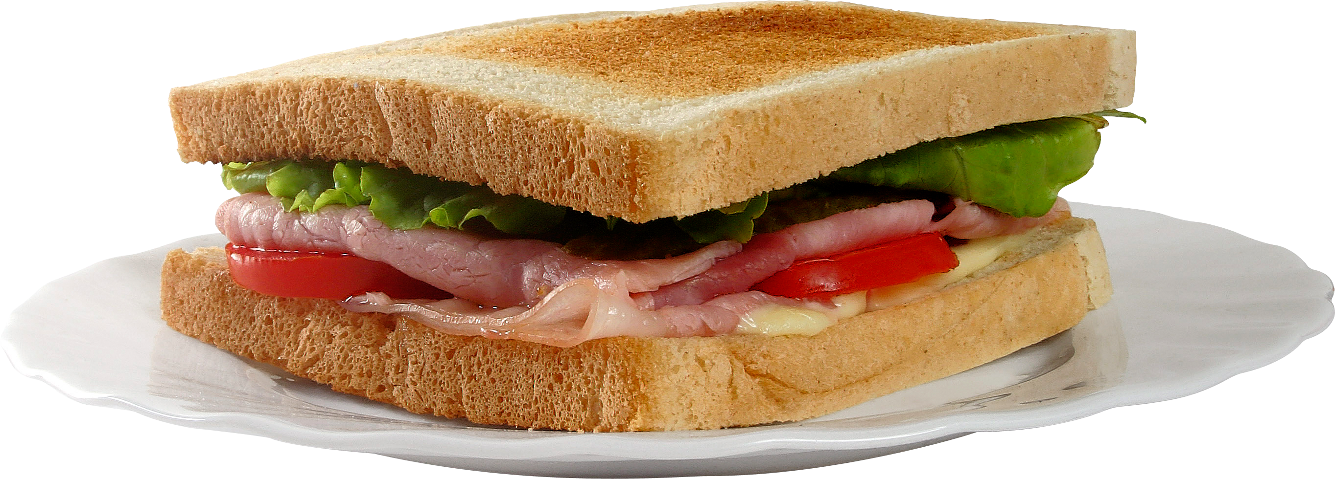Ham sandwich png. One isolated stock photo