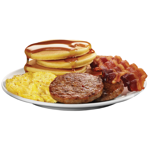 Breakfast transparent big. Stack plate krystal com
