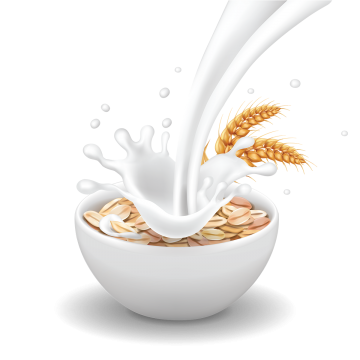 Milk drip png. Healthy breakfast vectors psd