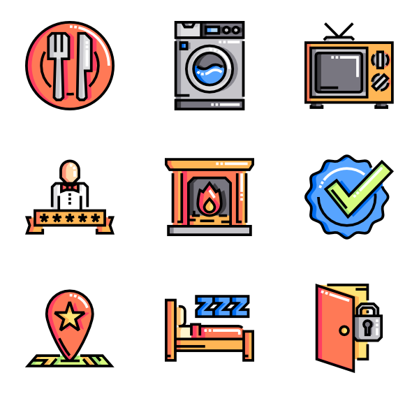 Dinner vector breakfast lunch. Icons free bed and