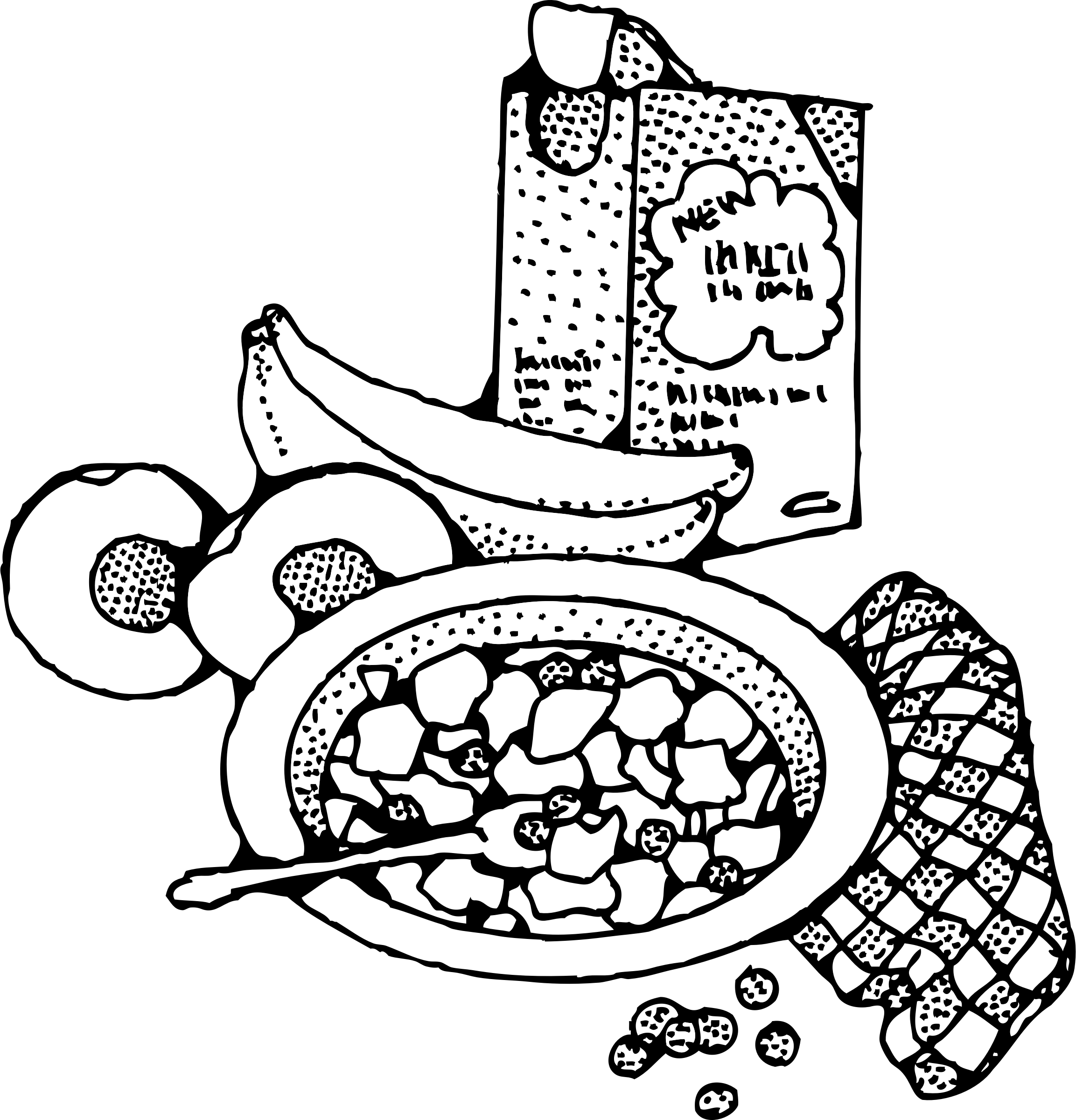Breakfast transparent black and white. Eat vector download