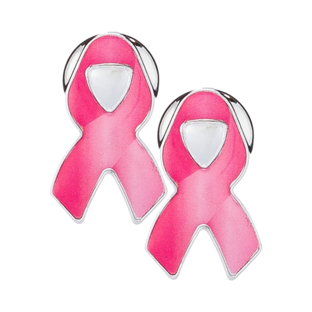 Breast cancer pink ribbon png. License plate screw covers