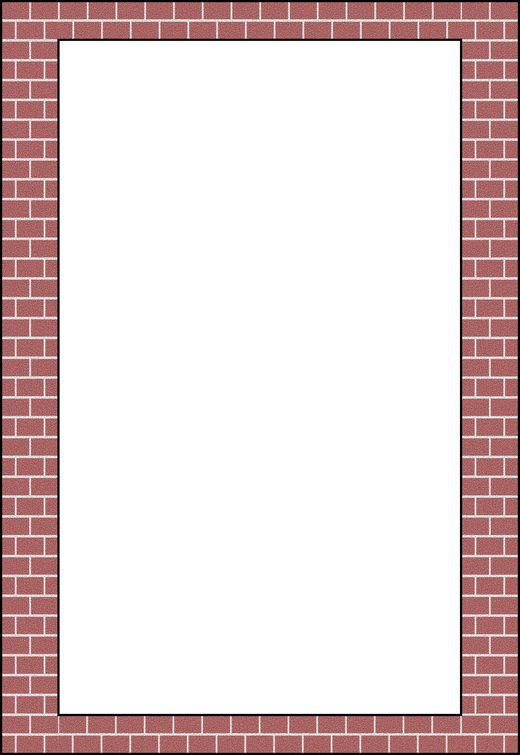 Brick border png. Openclipart org by arvin