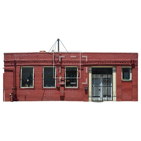Brick building png. Small red immediate entourage