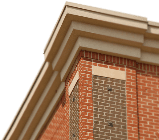Brick building png. Triangle company clay cladding