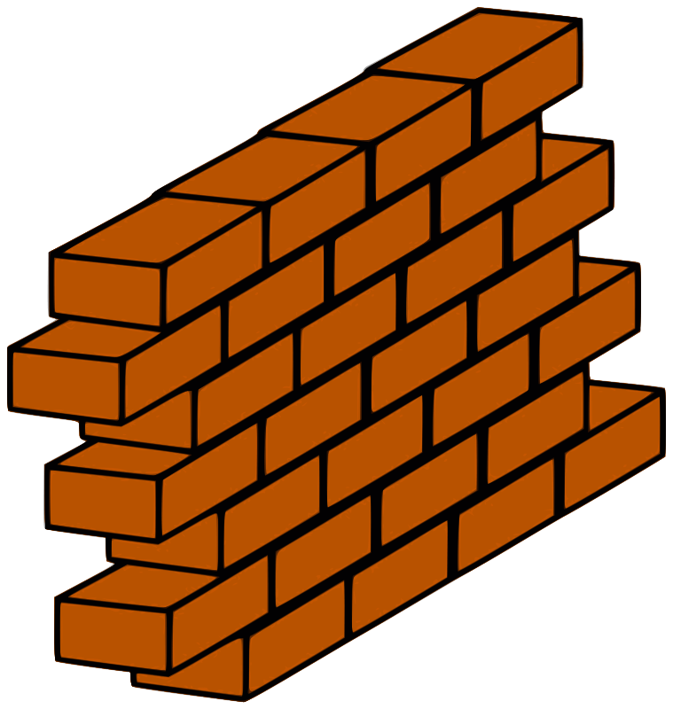 brick clipart old brick wall