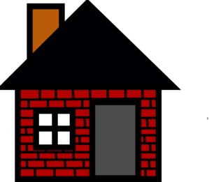 Brick clipart coloring. House
