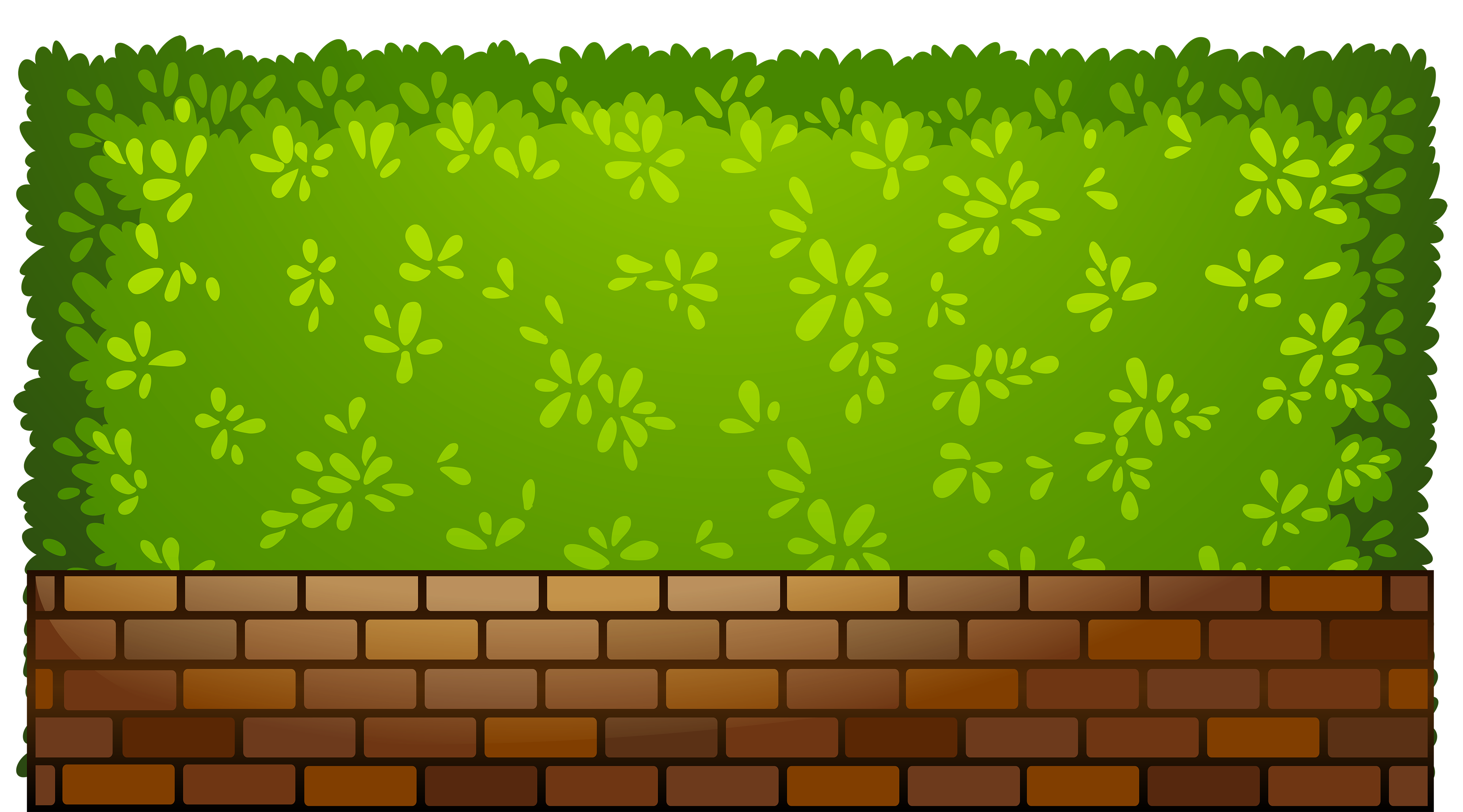 Brick wall clipart png. Fence with plants best