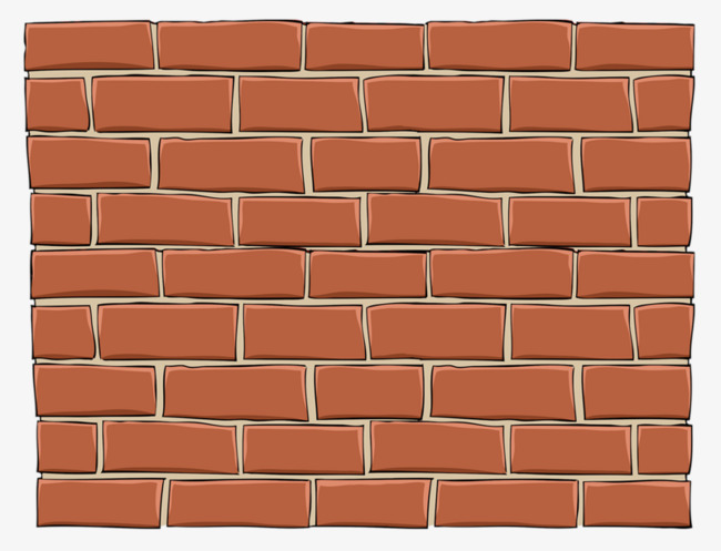 Brick clipart. Wall hand painted good