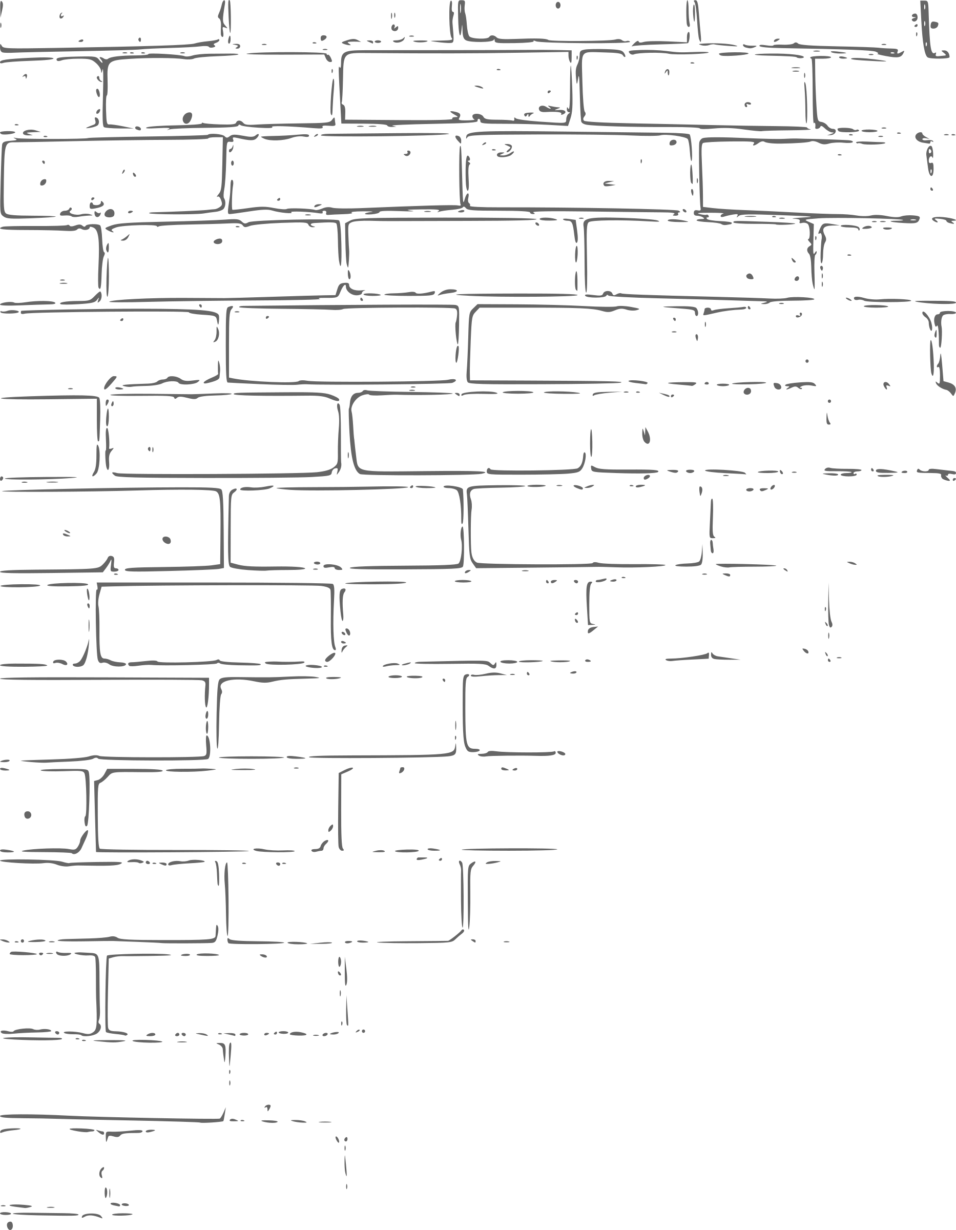 Brick outline png. Clipart wall texture big