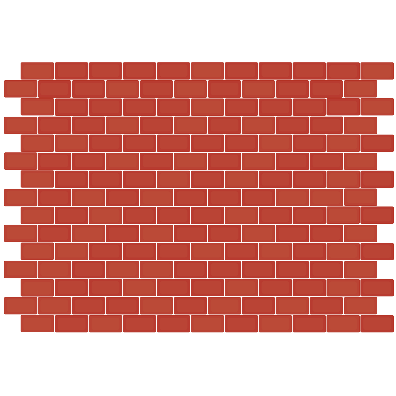 Floor vector wall background. Brick mosaic tile red
