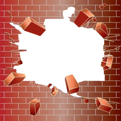 brick wall hole png