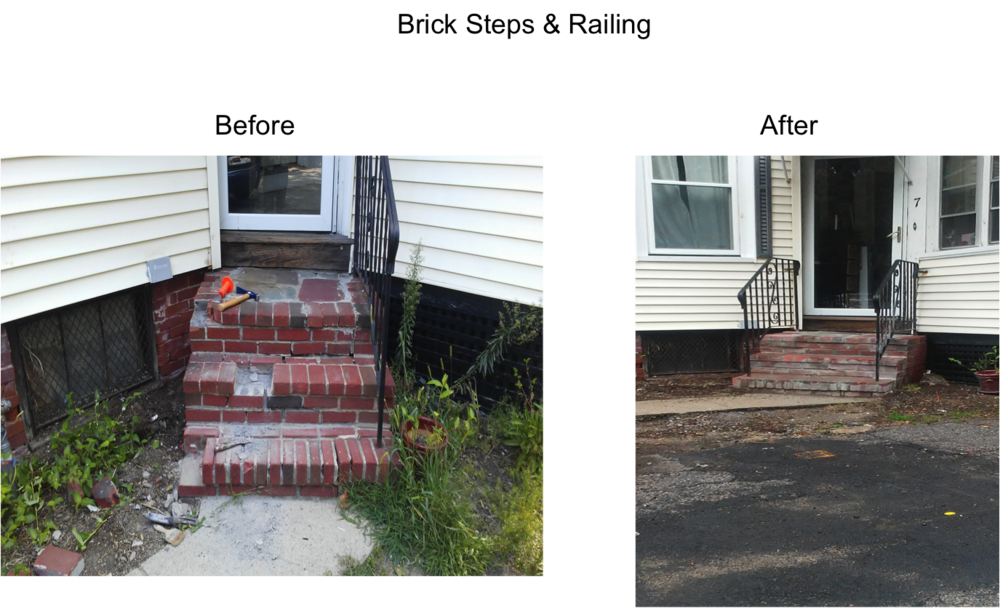 Brick steps png. Our projects mjm home