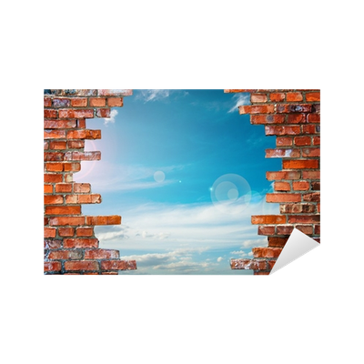 Brick wall hole png. With sticker pixers we