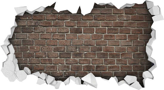 Brick wall hole png. A three dimensional with