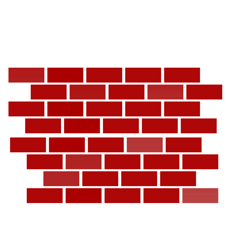 Drawing bricks. Collection of red