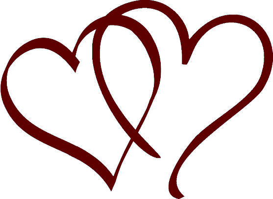 Burgundy heart png. Free wedding download clip