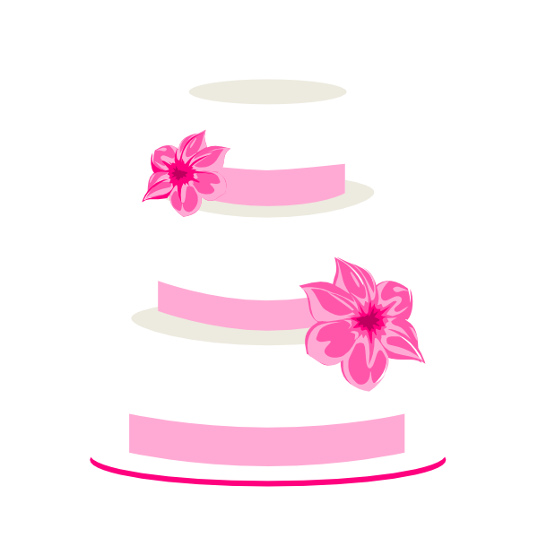 Vector layers cake. Free wedding clipart download