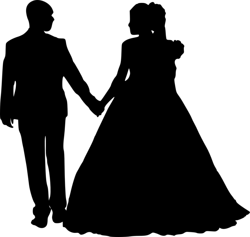 Bride and groom silhouette png. Free images toppng transparent