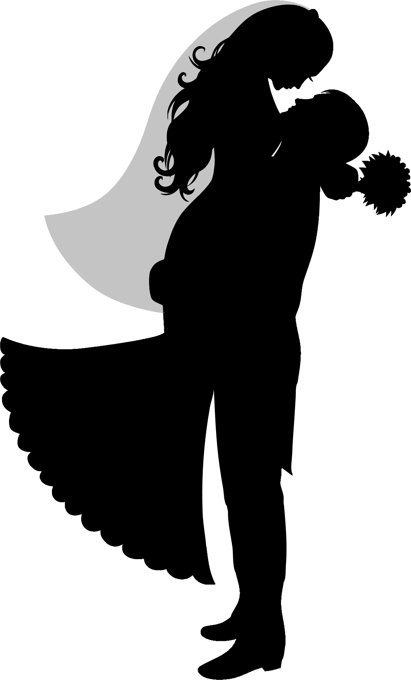 Bride and groom silhouette png. Icons free downloads this