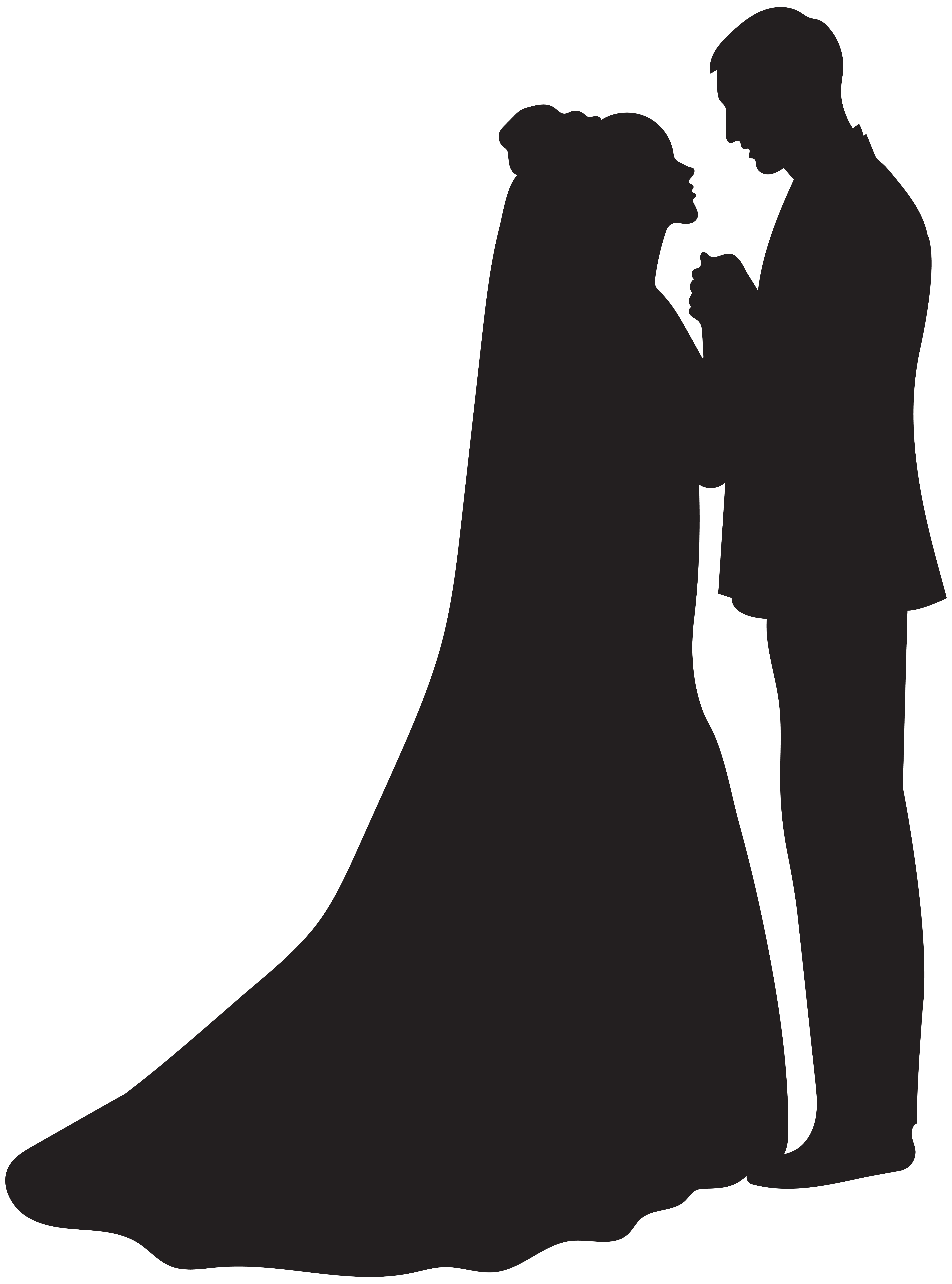 Bride and groom silhouette png. Clip art gallery yopriceville