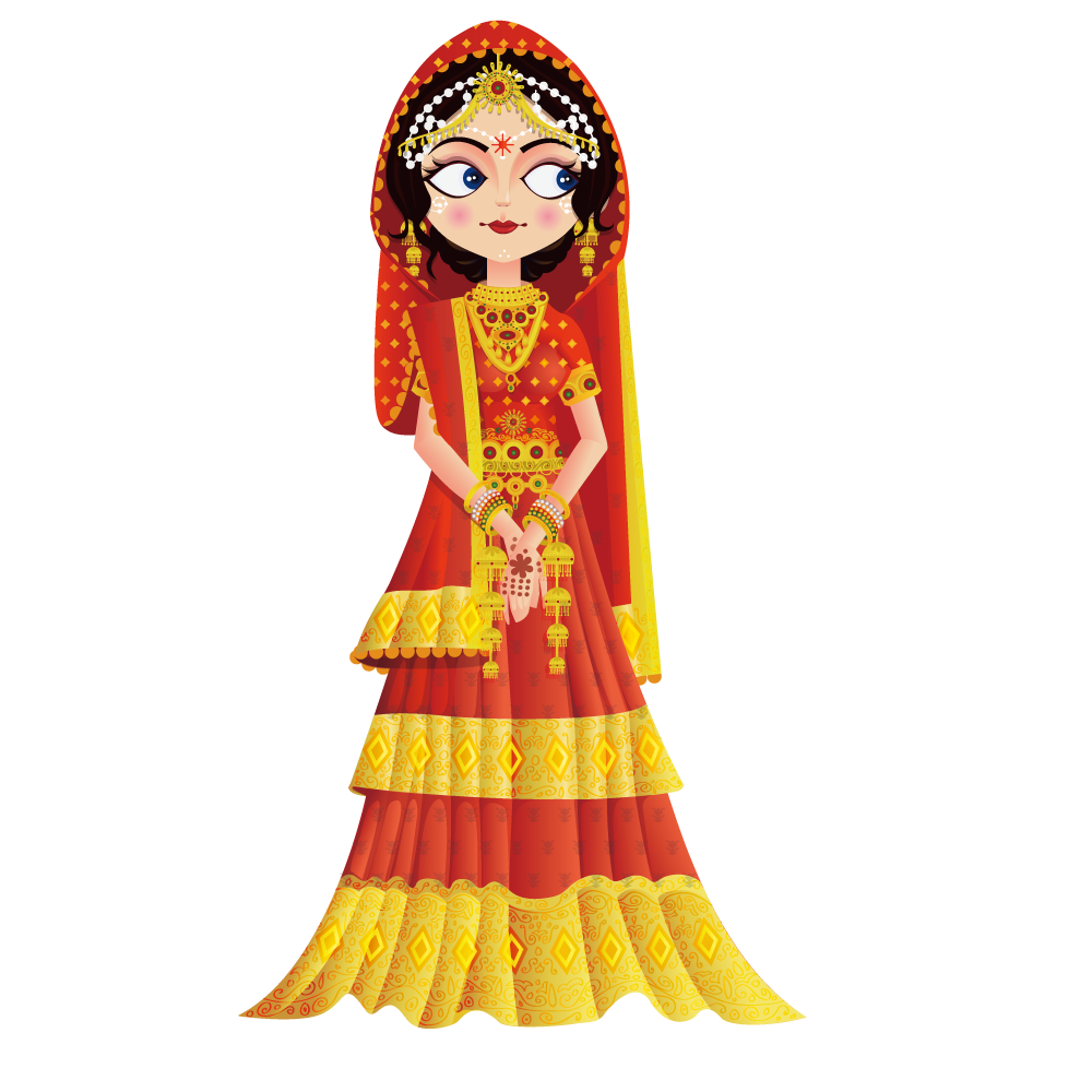 Bride clipart clothes indian. Doll wedding clip arts