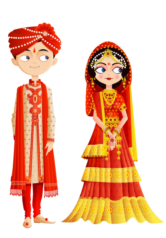 Bride clipart clothes indian. Personnages illustration individu personne