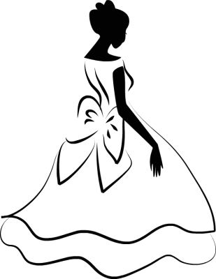 Wedding dress clipart png. Silhouette at getdrawings com